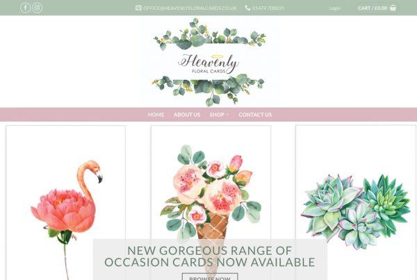 Heavenly Floral Cards - Webhubb Web Design Northwood Hills