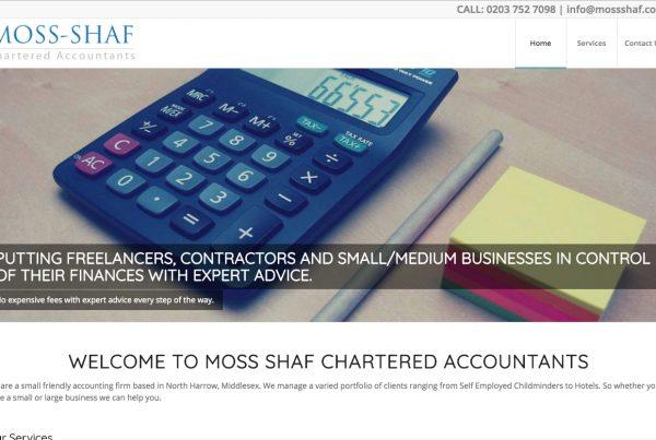 Moss Shaf Accountants - Webhubb Web Design Northwood Hills