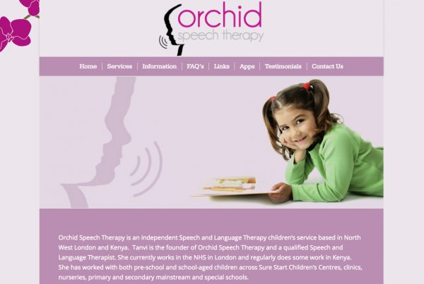 Orchid Speech Therapy - Webhubb Web Design Northwood Hills
